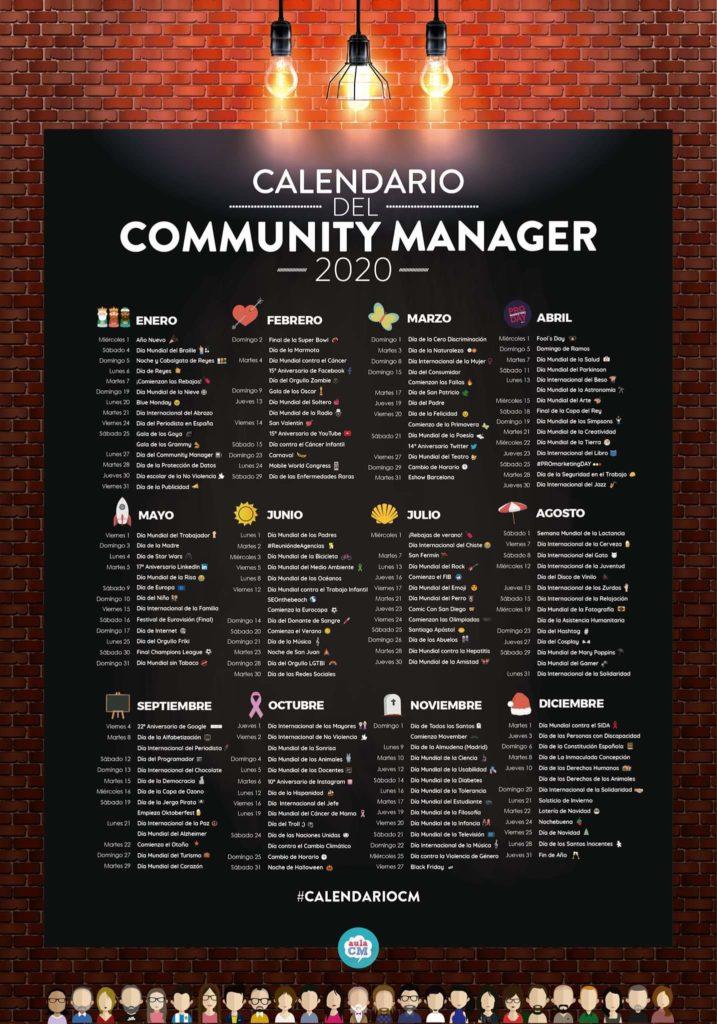 El Calendario del Community Manager 2020